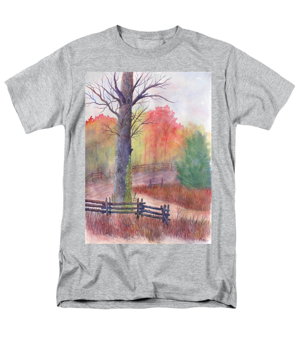 Fall Men's T-Shirt (Regular Fit) featuring the painting Joy of Fall by Ben Kiger