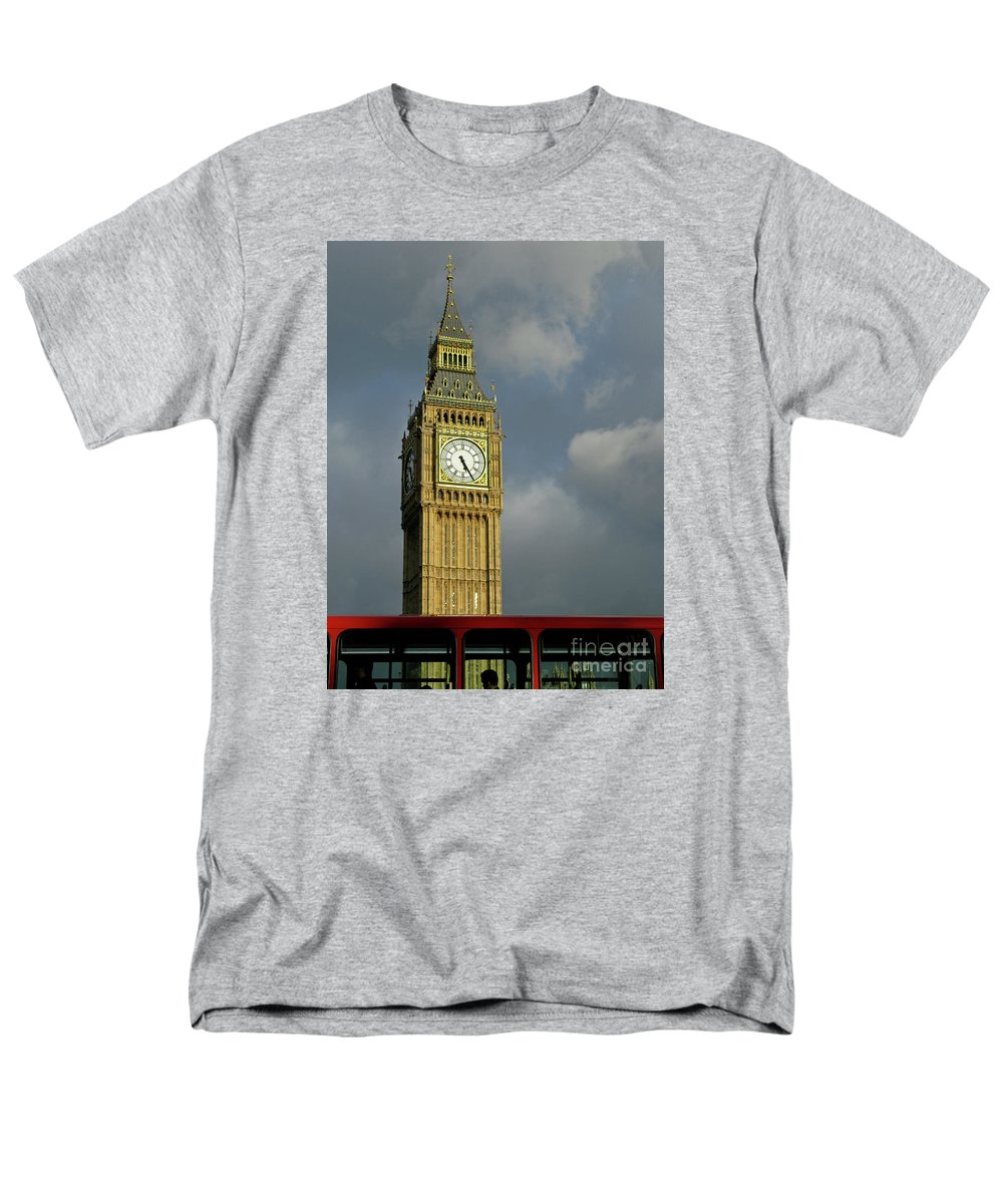 London Icons By Ann Horn Men's T-Shirt (Regular Fit) featuring the photograph London Icons by Ann Horn