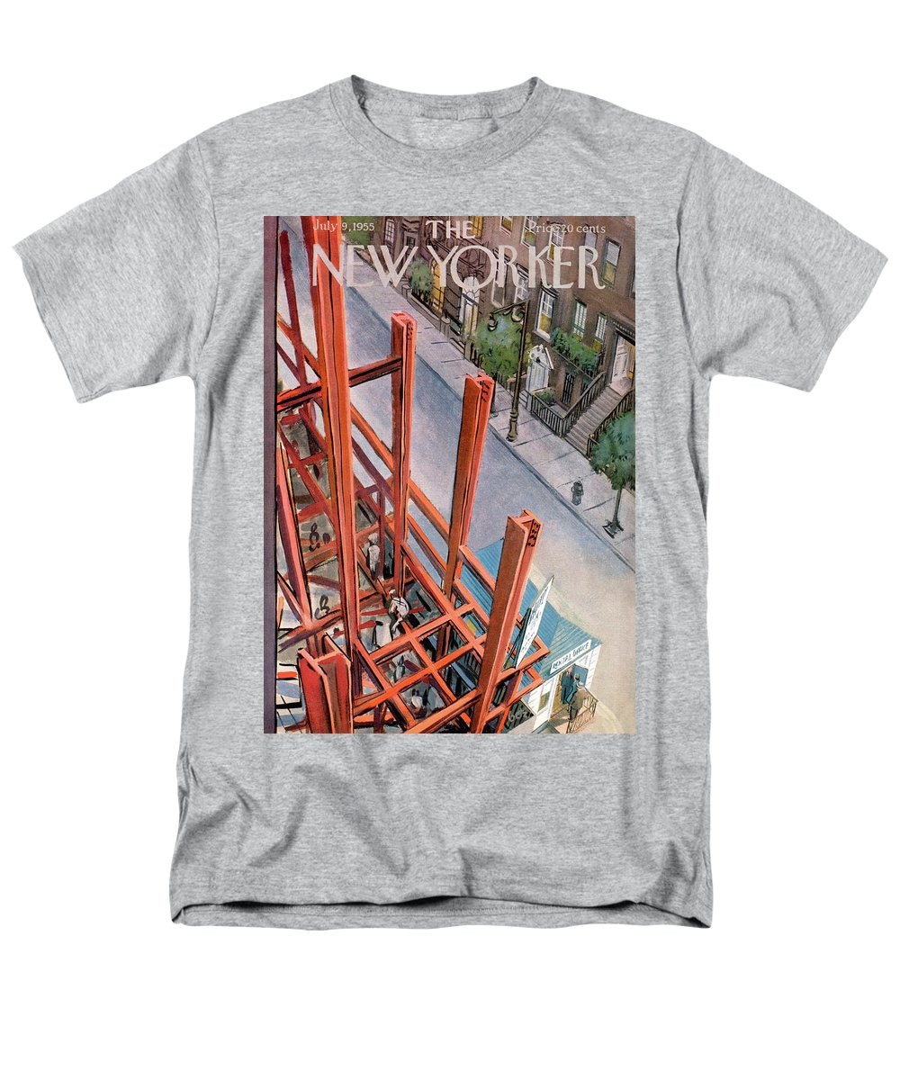 Urban Men's T-Shirt (Regular Fit) featuring the painting New Yorker July 9th, 1955 by Arthur Getz