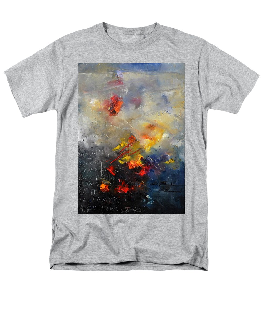 Abstract Men's T-Shirt (Regular Fit) featuring the painting Abstract 0805 by Pol Ledent