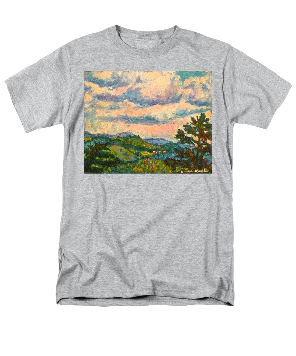 Landscape Paintings Men's T-Shirt (Regular Fit) featuring the painting Another Rocky Knob by Kendall Kessler