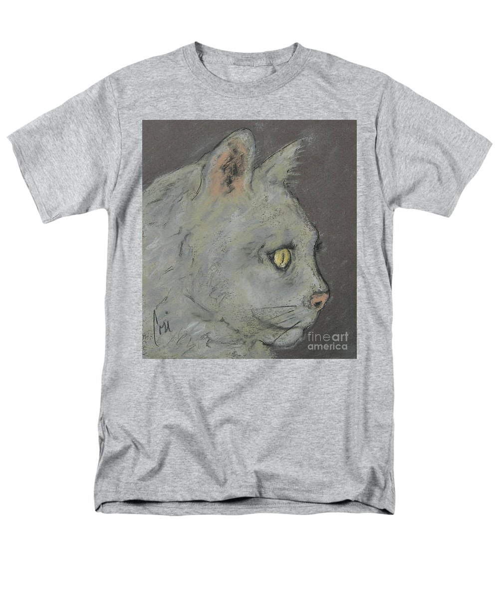 Pastels Men's T-Shirt (Regular Fit) featuring the drawing At Peace by Cori Solomon