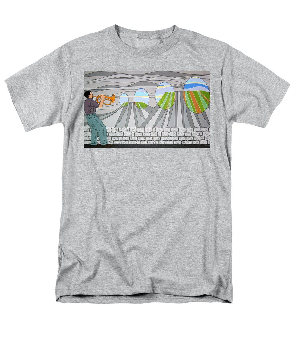 Trumpet Men's T-Shirt (Regular Fit) featuring the painting Candy Lips by Patricia Van Lubeck