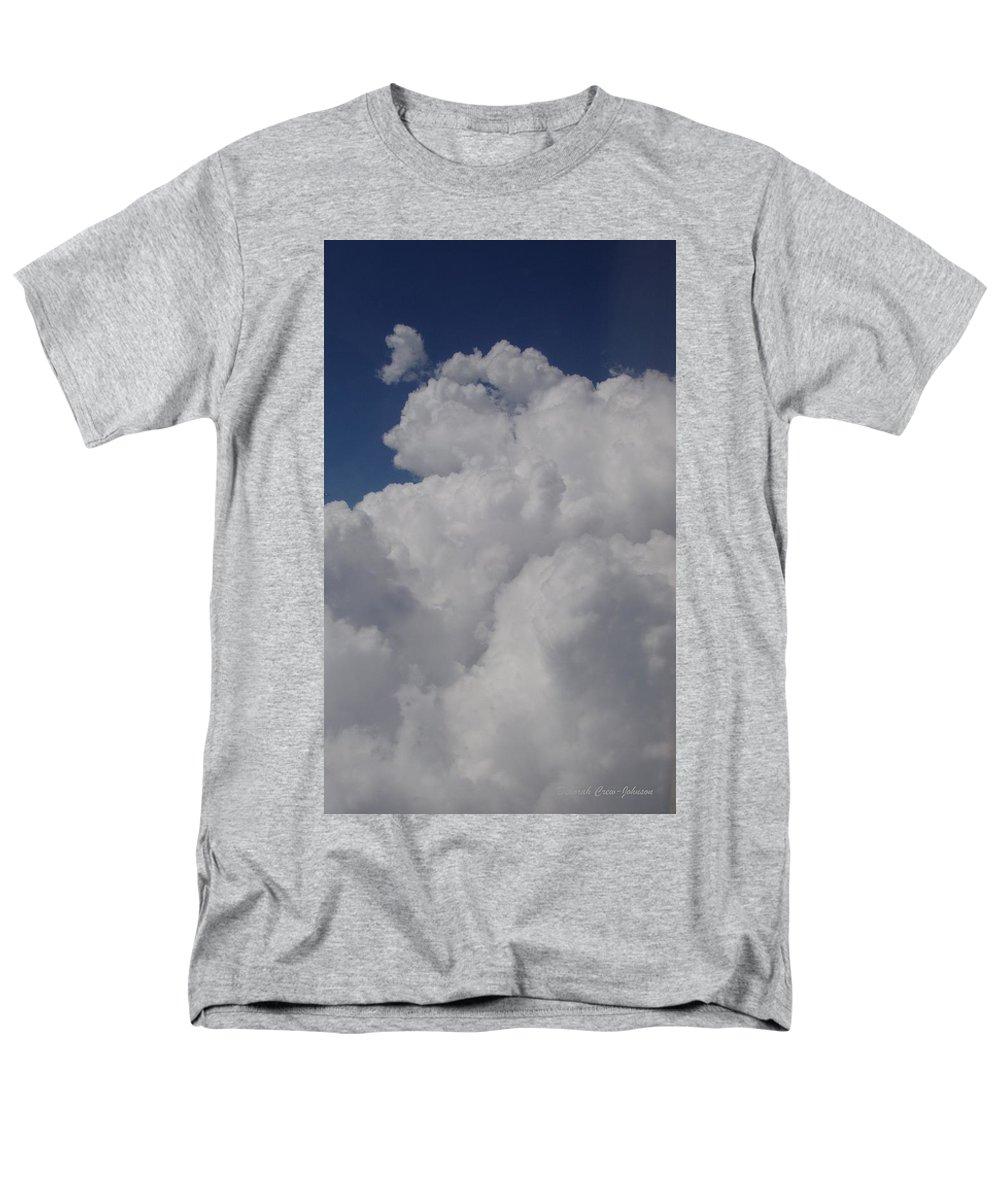 Clouds Men's T-Shirt (Regular Fit) featuring the photograph Cloud Depth I by Deborah Crew-Johnson