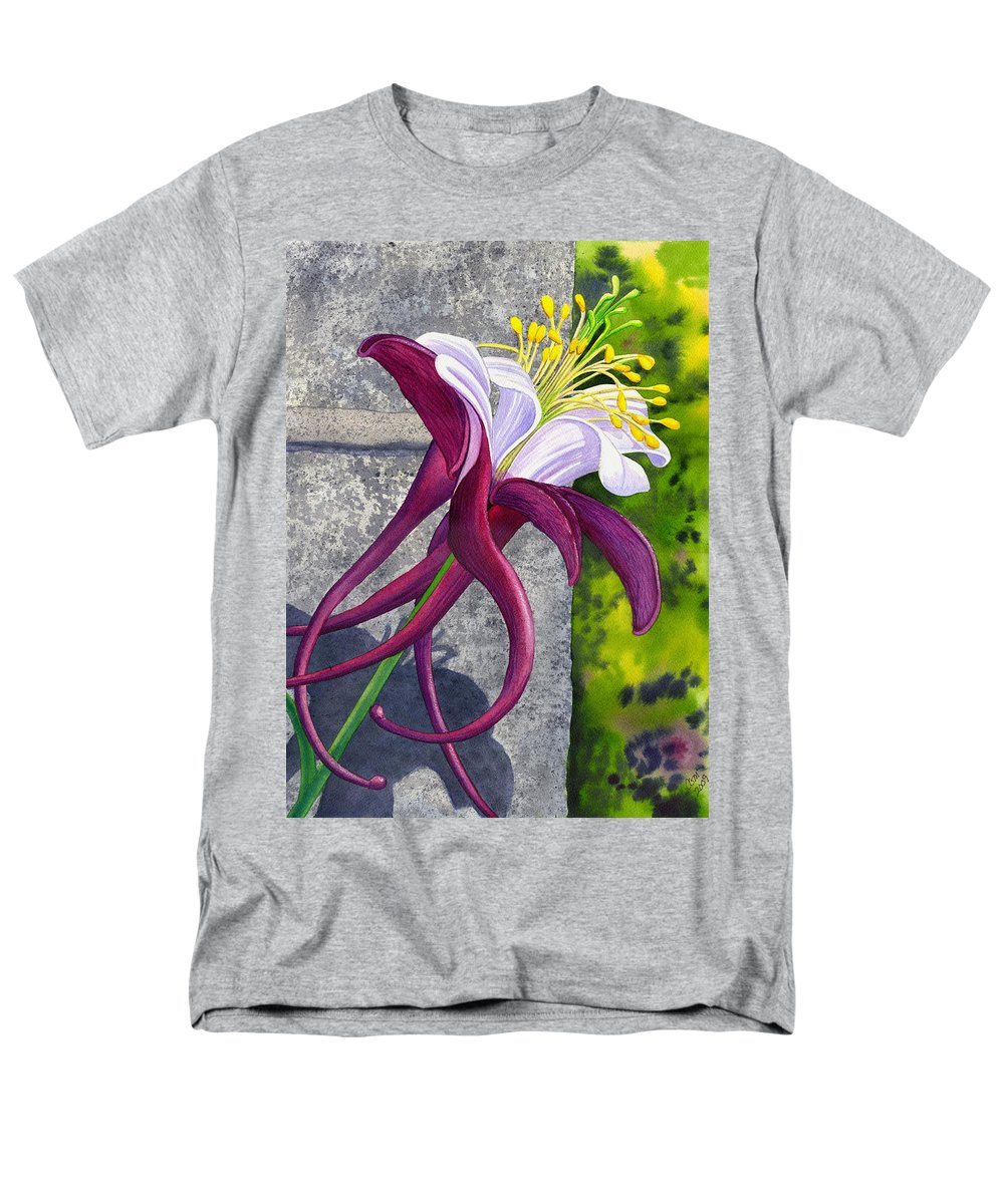 Columbine Men's T-Shirt (Regular Fit) featuring the painting Columbine by Catherine G McElroy