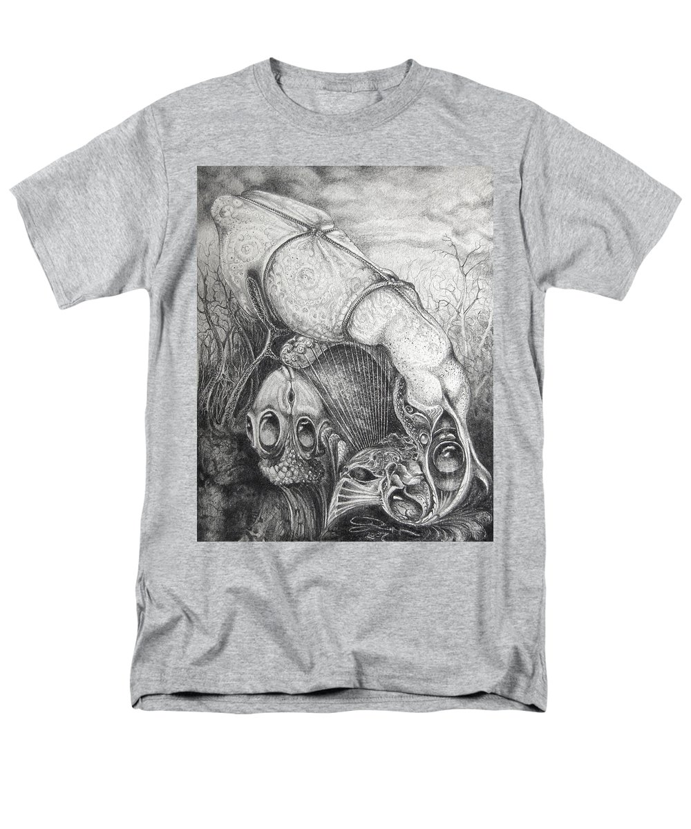 Surrealism Men's T-Shirt (Regular Fit) featuring the drawing Ctulhu Seedpods by Otto Rapp