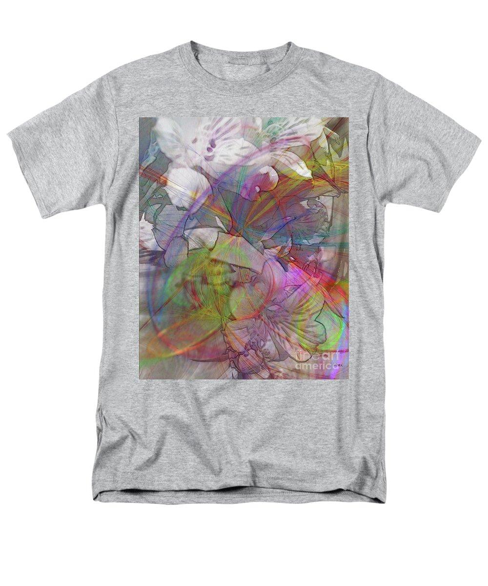 Floral Fantasy Men's T-Shirt (Regular Fit) featuring the digital art Floral Fantasy by John Beck