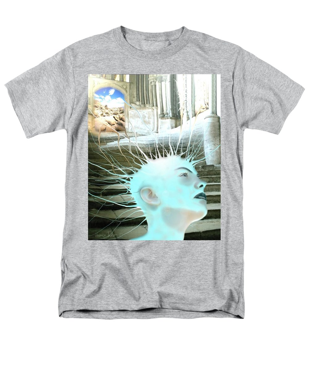Thoughts Stairs Energy Space Men's T-Shirt (Regular Fit) featuring the digital art I by Veronica Jackson