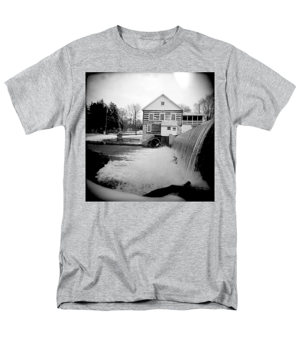 Photograph Men's T-Shirt (Regular Fit) featuring the photograph Laughlin Mill by Jean Macaluso