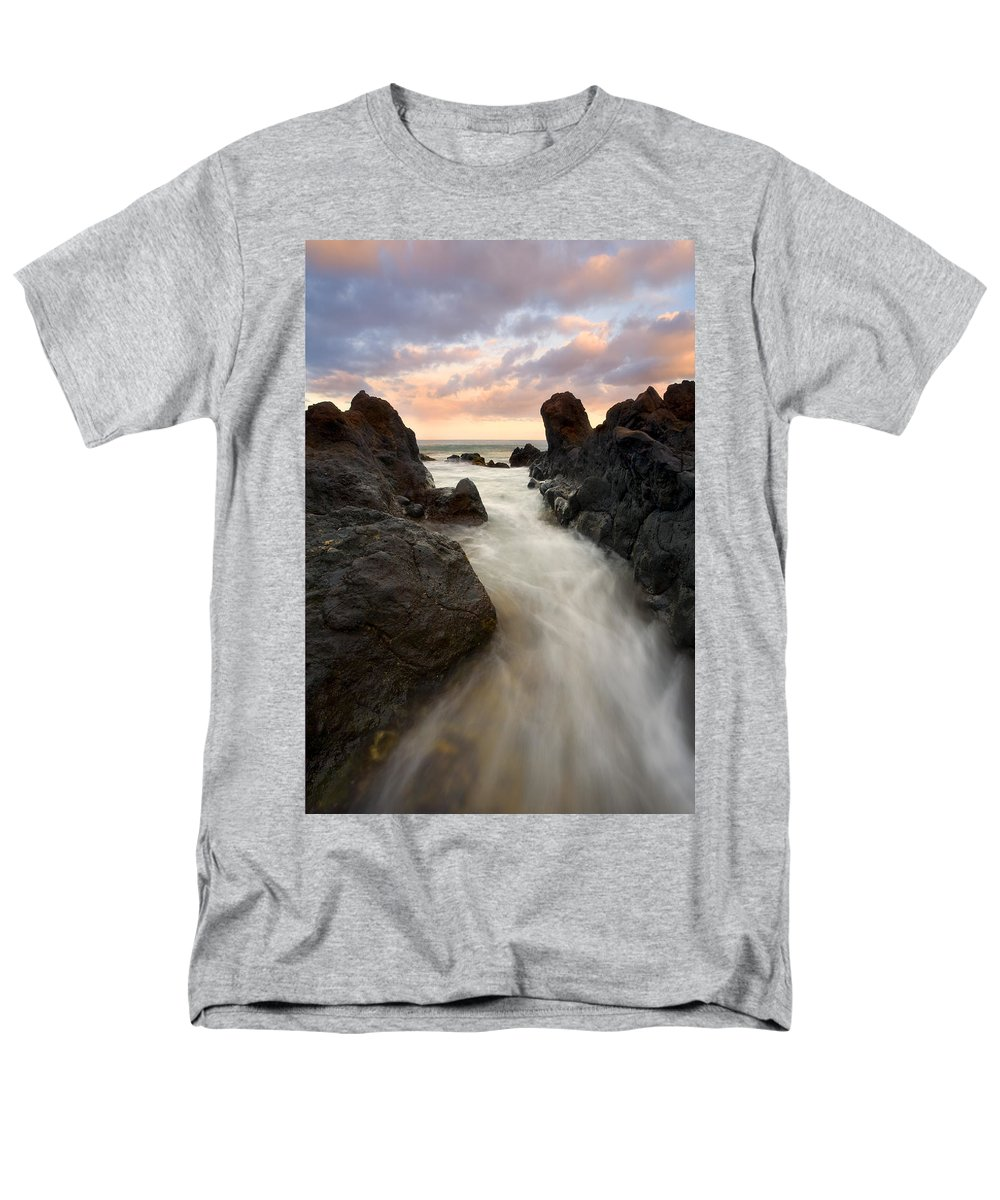 Sunrise Men's T-Shirt (Regular Fit) featuring the photograph Primordial tides by Mike Dawson