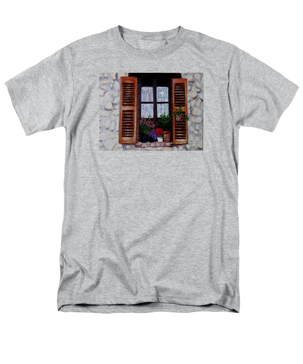 Provence Men's T-Shirt (Regular Fit) featuring the painting Provence Morning by Laurie Morgan