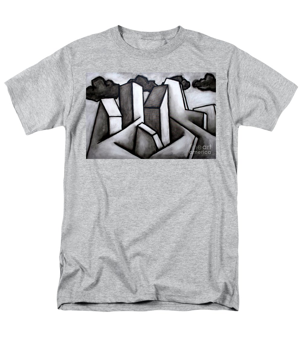 Absract Men's T-Shirt (Regular Fit) featuring the painting Scape by Thomas Valentine