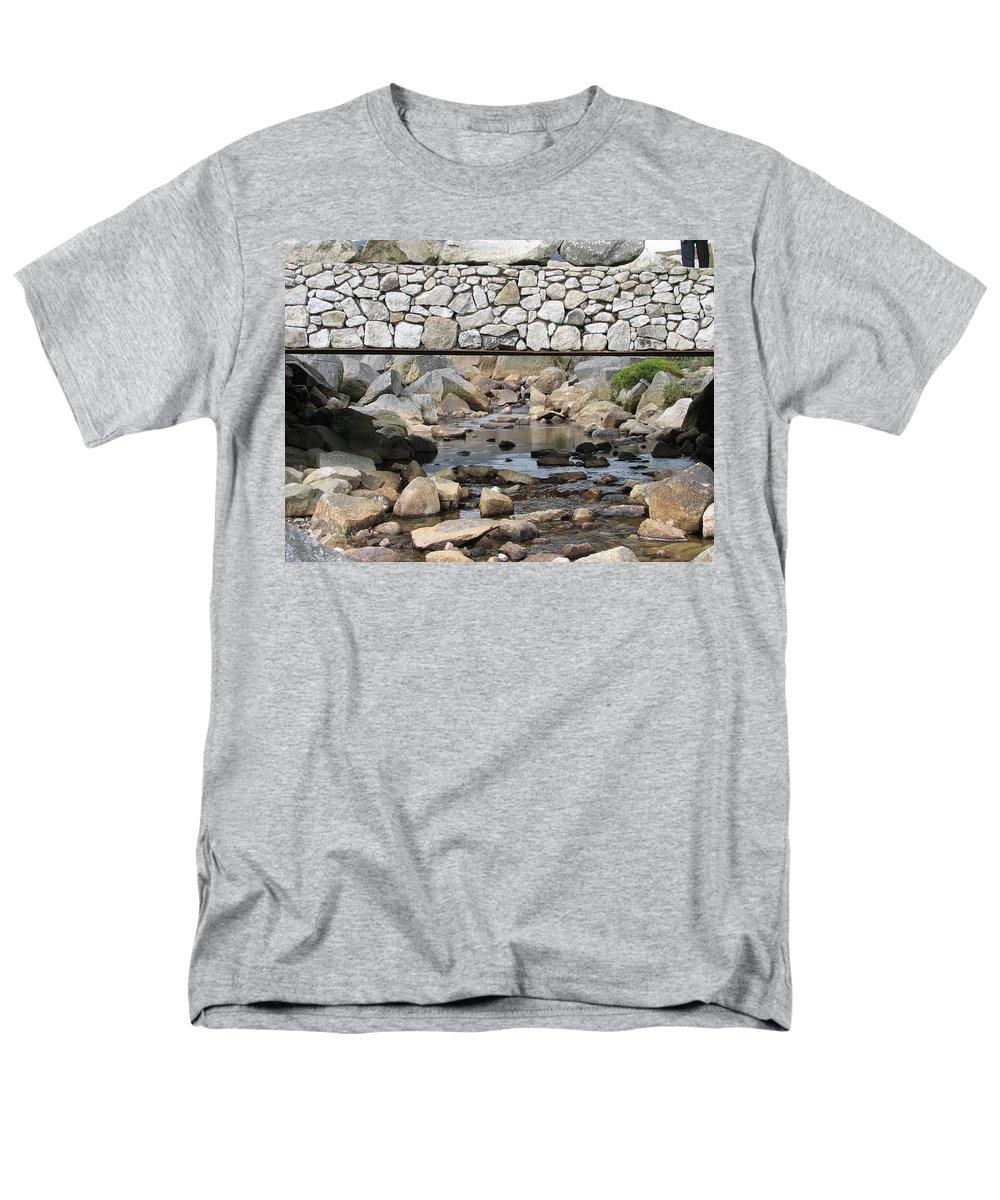 Stone Men's T-Shirt (Regular Fit) featuring the photograph Stone Bridge by Kelly Mezzapelle