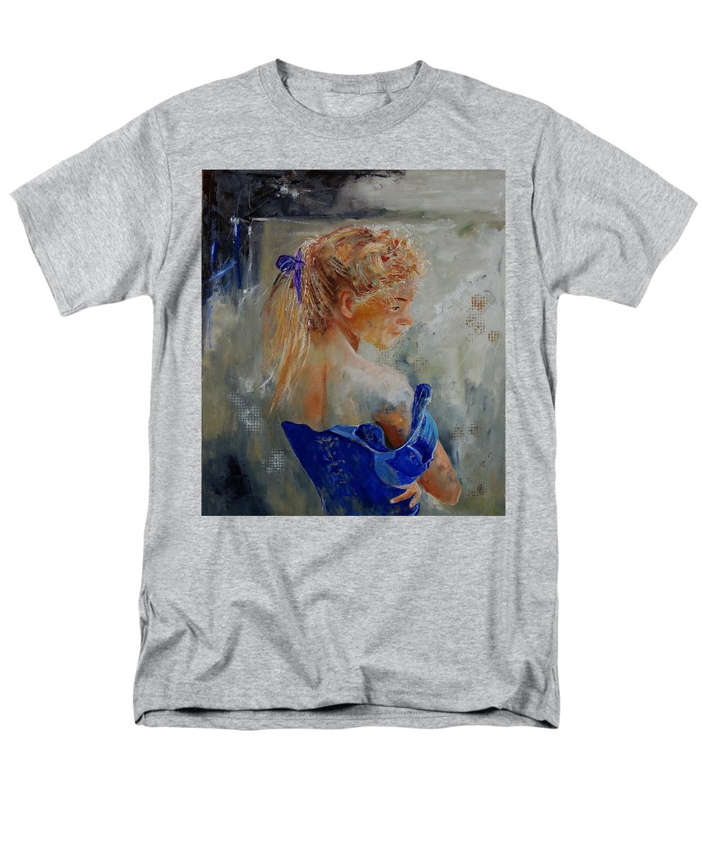 Gir Men's T-Shirt (Regular Fit) featuring the painting Young Girl 78 by Pol Ledent