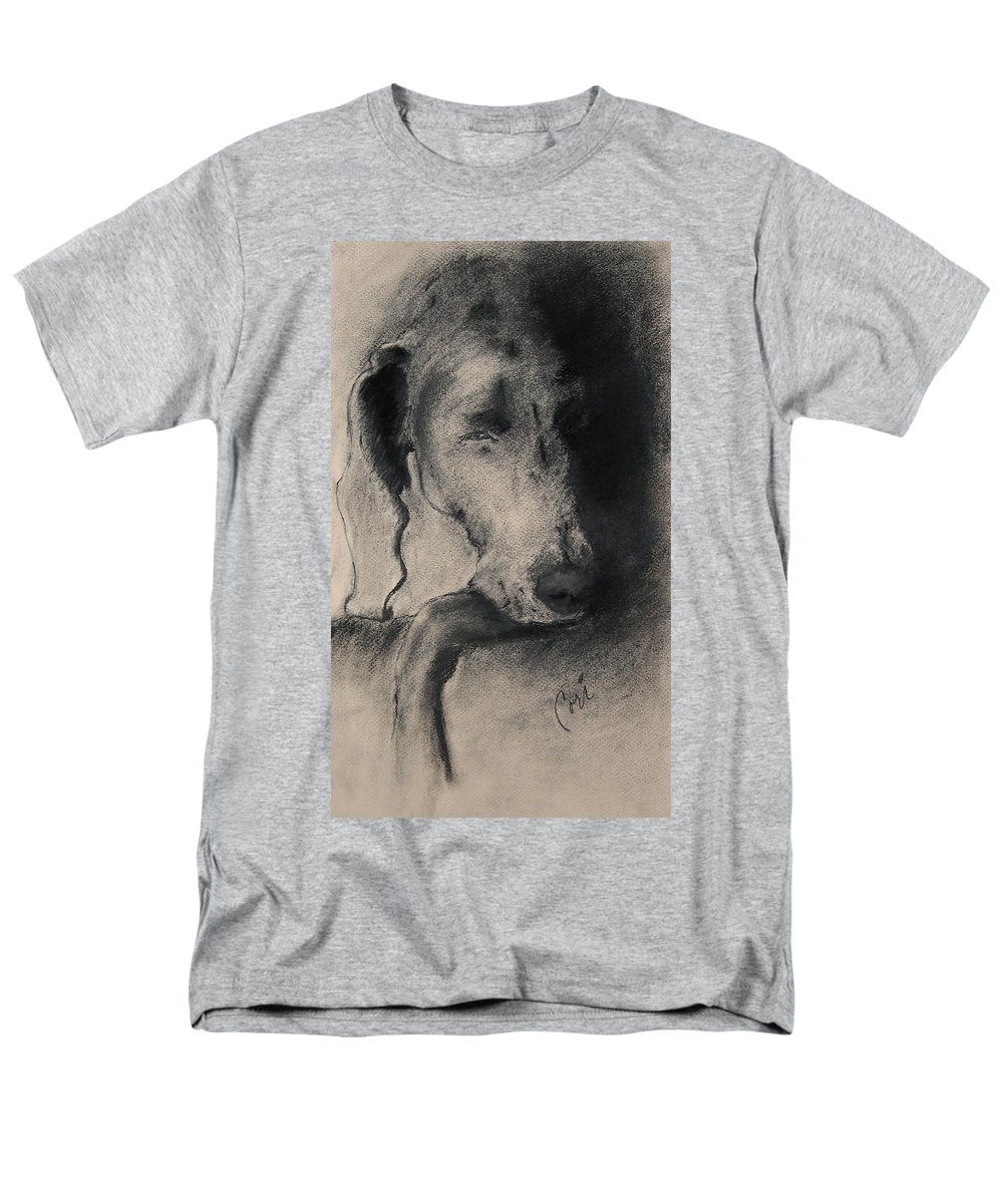 Weimaraner Men's T-Shirt (Regular Fit) featuring the drawing Silhouette by Cori Solomon