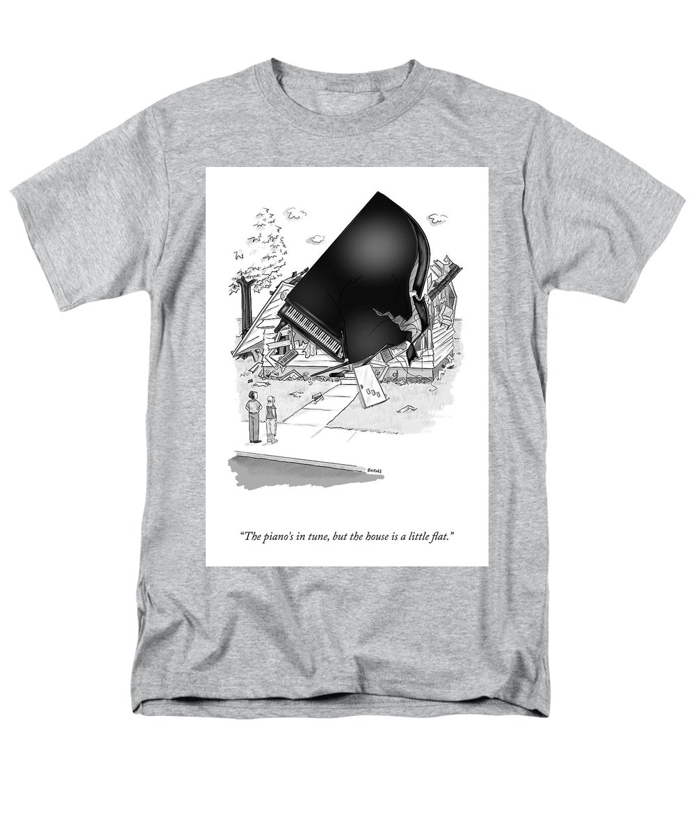 Cctk Men's T-Shirt (Regular Fit) featuring the drawing The Piano's In Tune by Teresa Burns Parkhurst