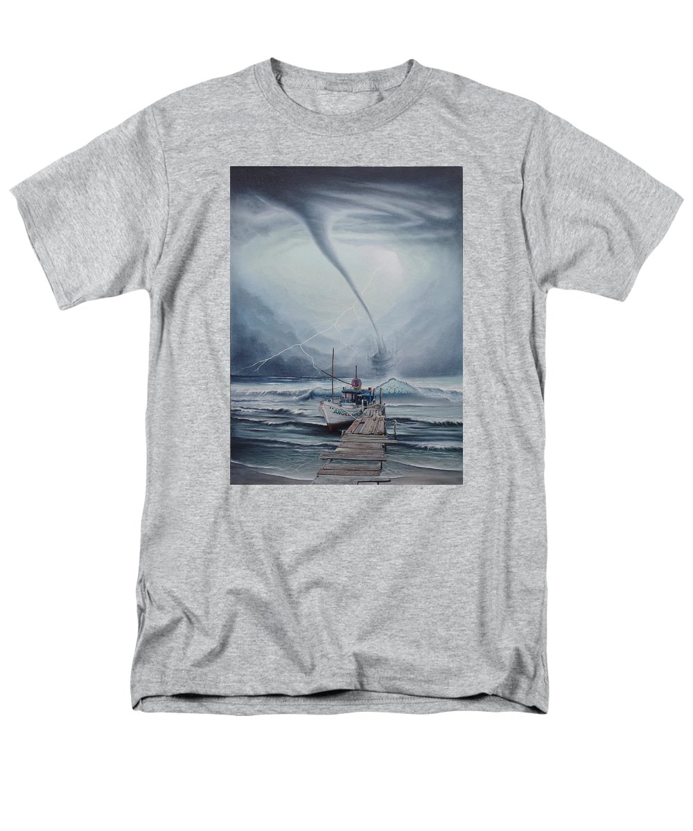Seascape Men's T-Shirt (Regular Fit) featuring the painting Tifon   water sprout by Angel Ortiz