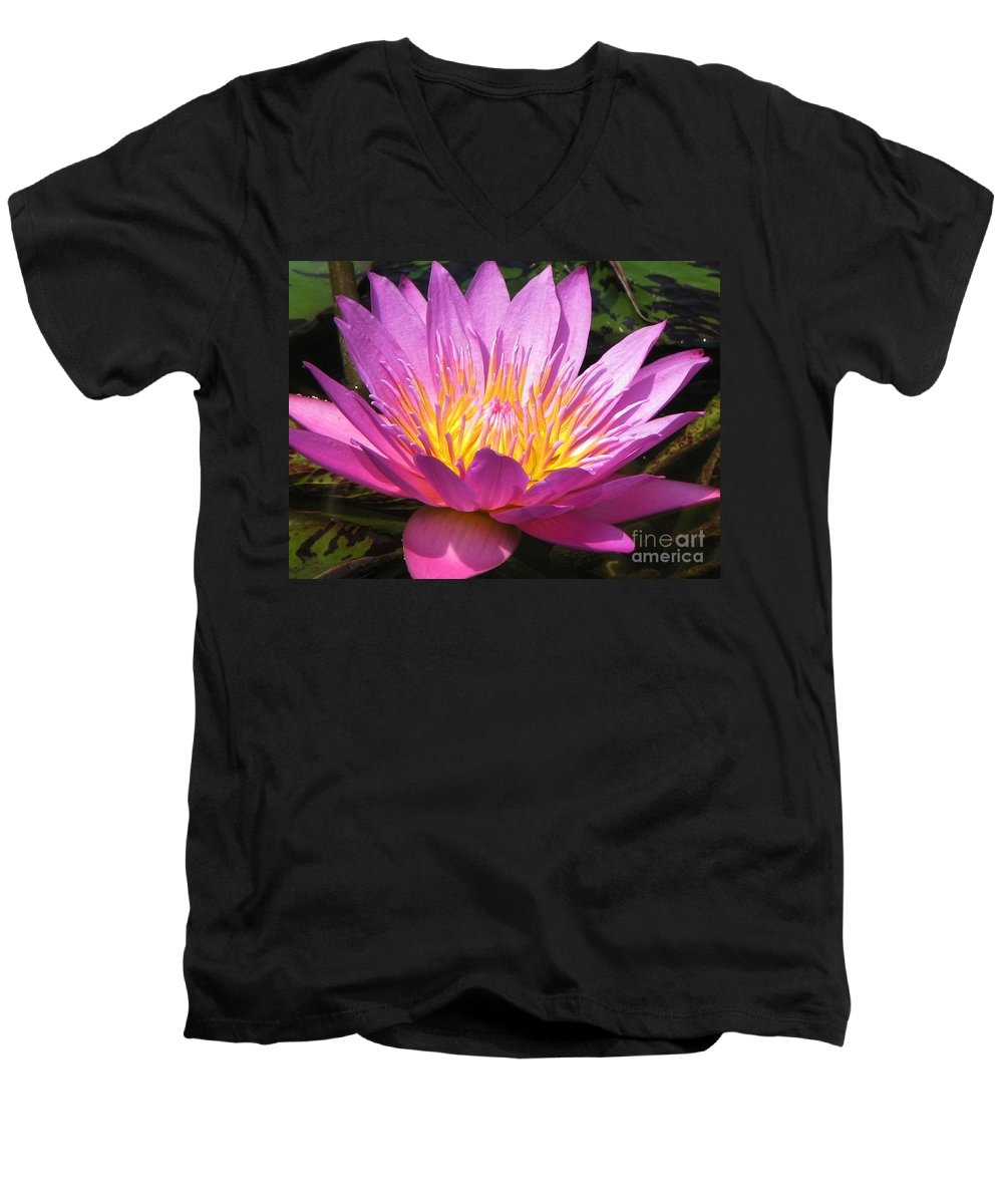 Lilly Men's V-Neck T-Shirt featuring the photograph It by Amanda Barcon