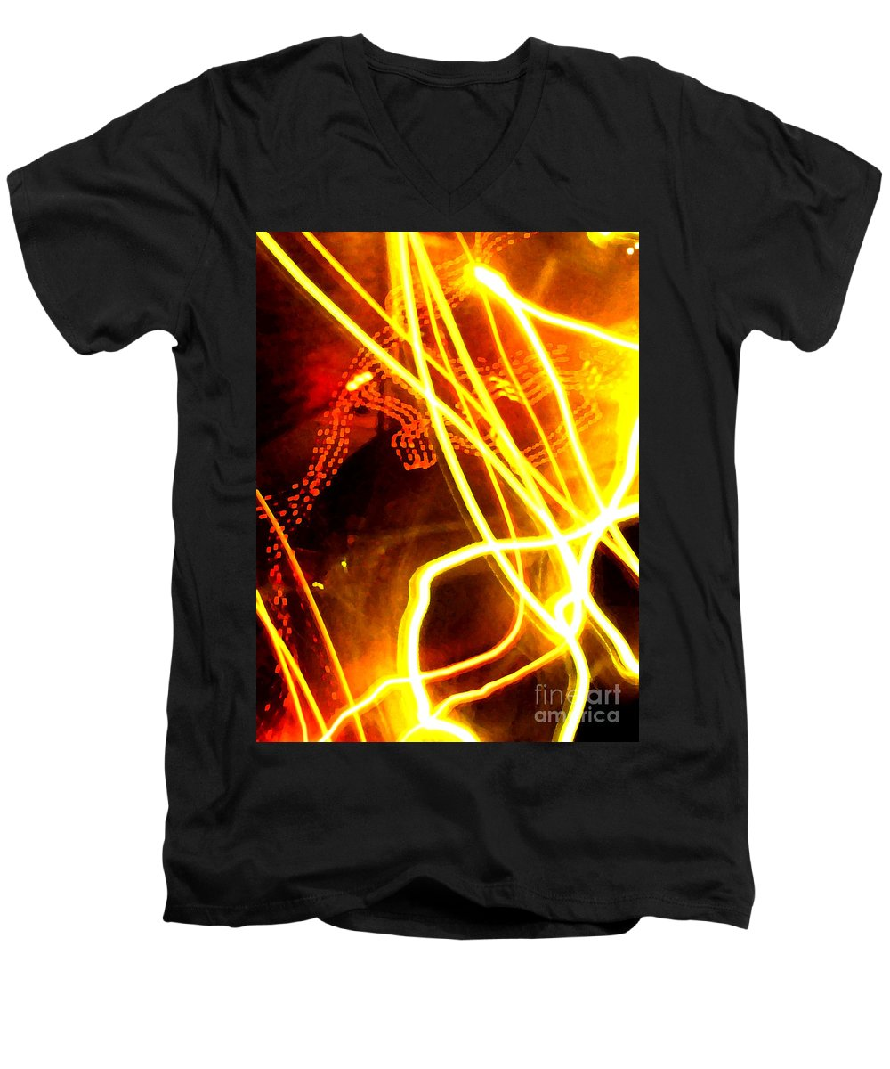 Abstract Men's V-Neck T-Shirt featuring the photograph Abstract by Amanda Barcon