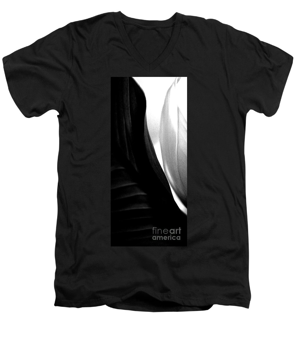 black And White Prints Men's V-Neck T-Shirt featuring the photograph Balance by Amanda Barcon