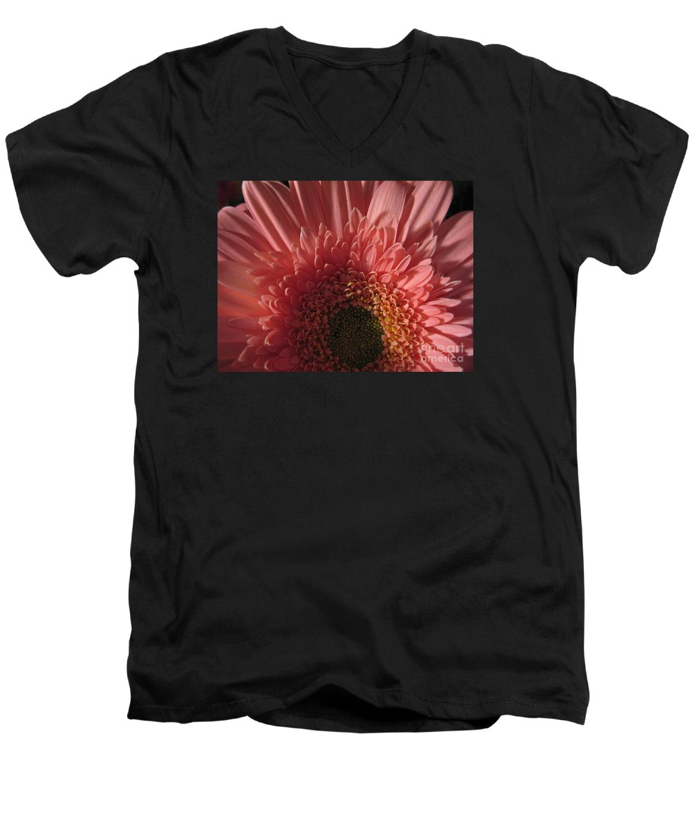 Flower Men's V-Neck T-Shirt featuring the photograph Dark Radiance by Ann Horn