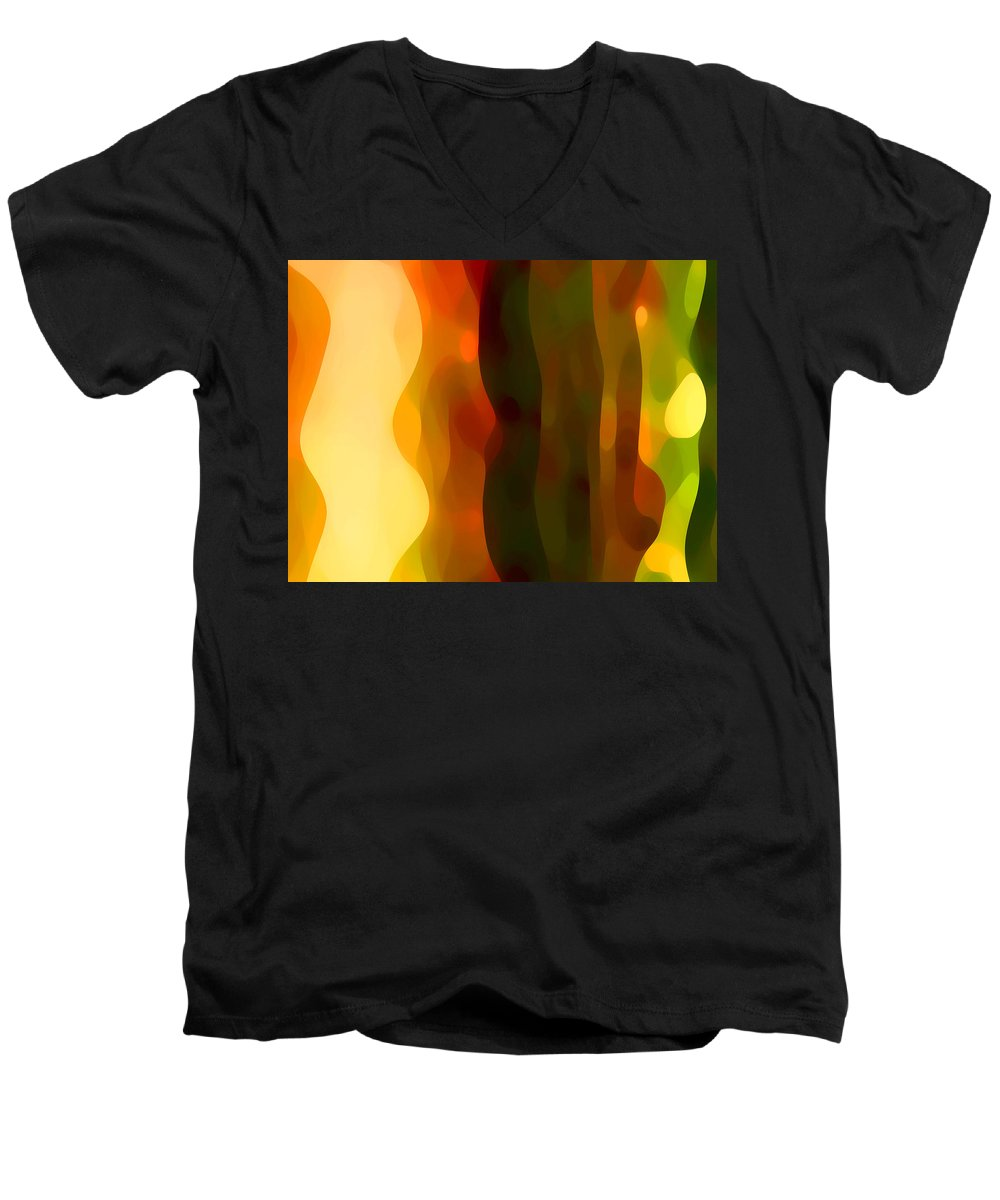 Bold Men's V-Neck T-Shirt featuring the painting Desert Pattern 1 by Amy Vangsgard