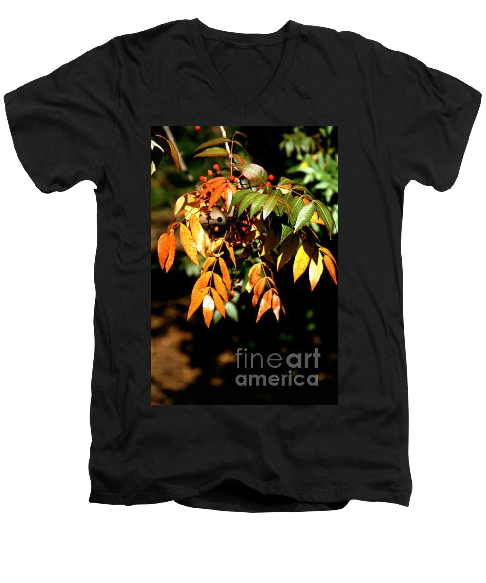 Fall Color Men's V-Neck T-Shirt featuring the photograph Fall Leaves by Kathy McClure