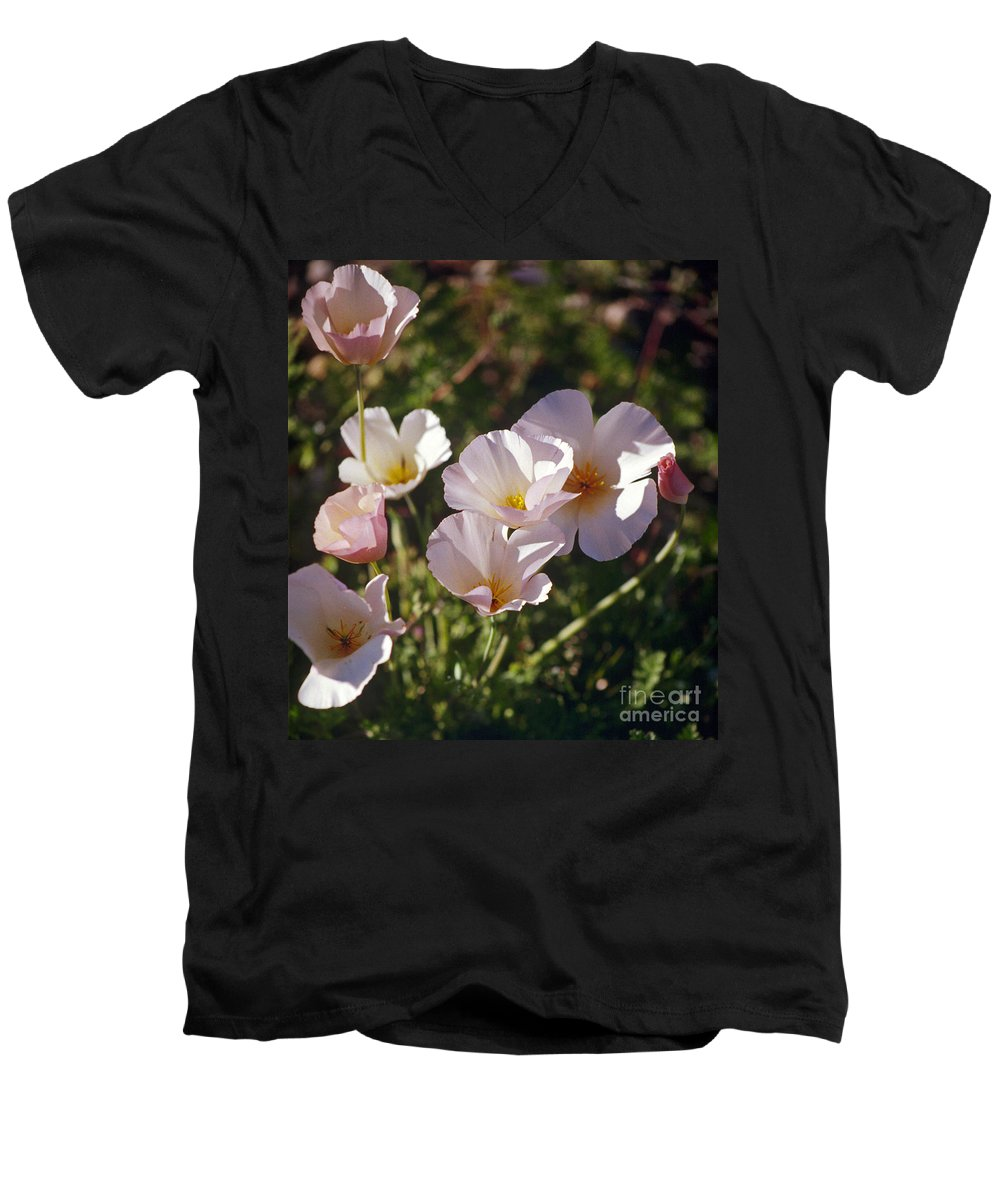 Flowers Men's V-Neck T-Shirt featuring the photograph Icelandic Poppies by Kathy McClure