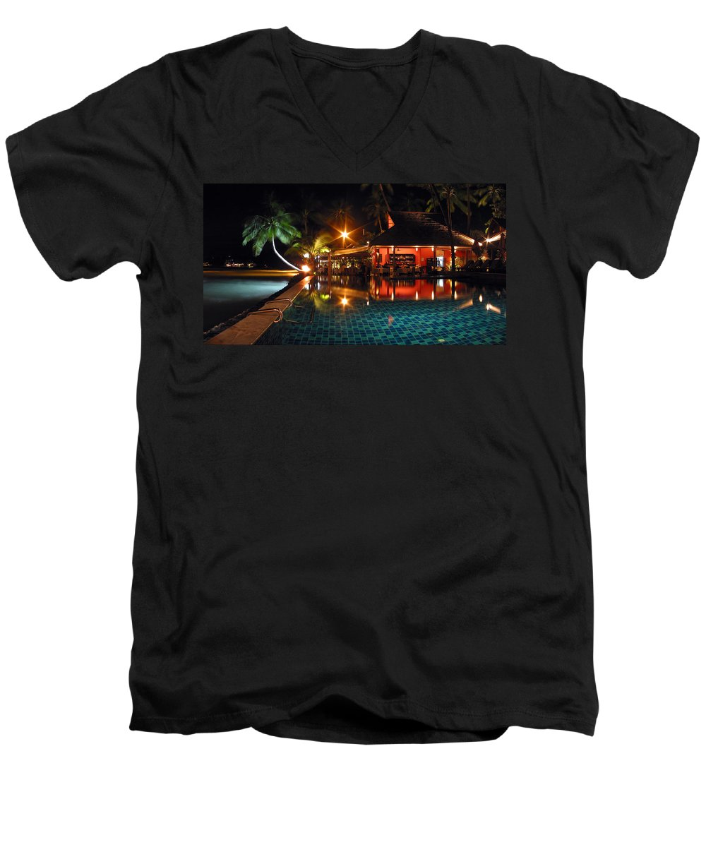 3scape Photos Men's V-Neck T-Shirt featuring the photograph Koh Samui Beach Resort by Adam Romanowicz