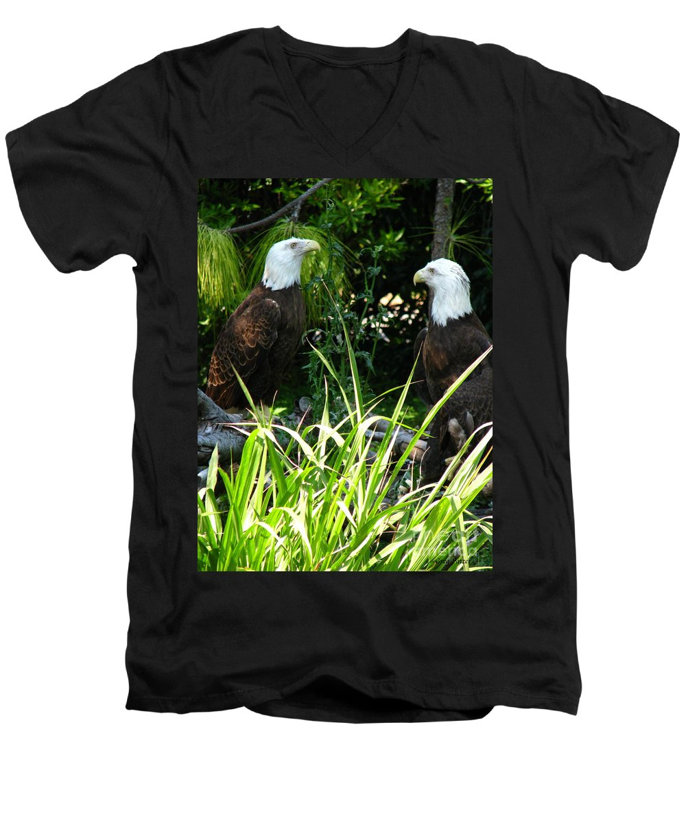 Patzer Men's V-Neck T-Shirt featuring the photograph Mates by Greg Patzer