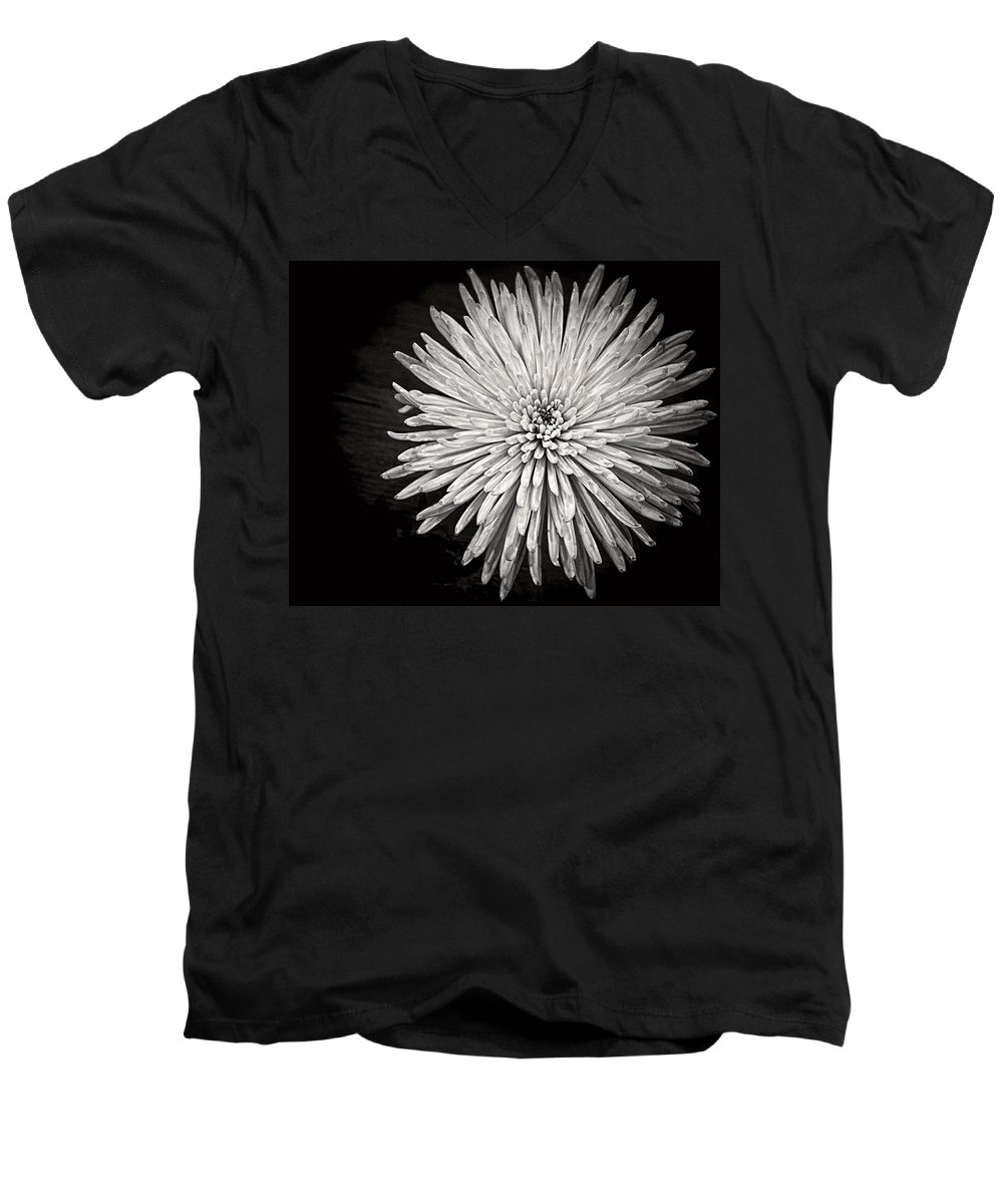 Flower Men's V-Neck T-Shirt featuring the photograph Mum's The Word by Kristi Swift
