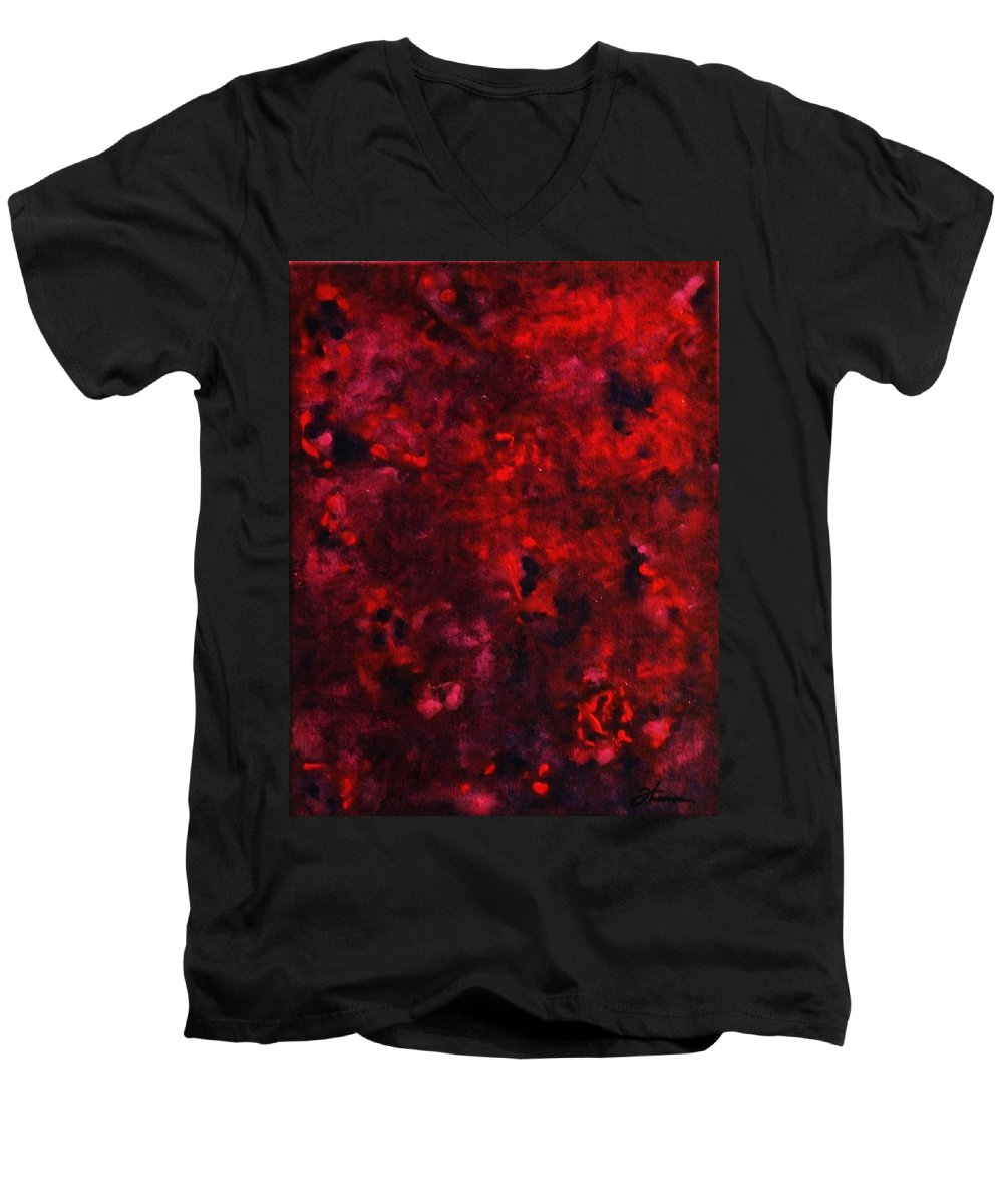 Acrylic Men's V-Neck T-Shirt featuring the painting Remembrance by Todd Hoover