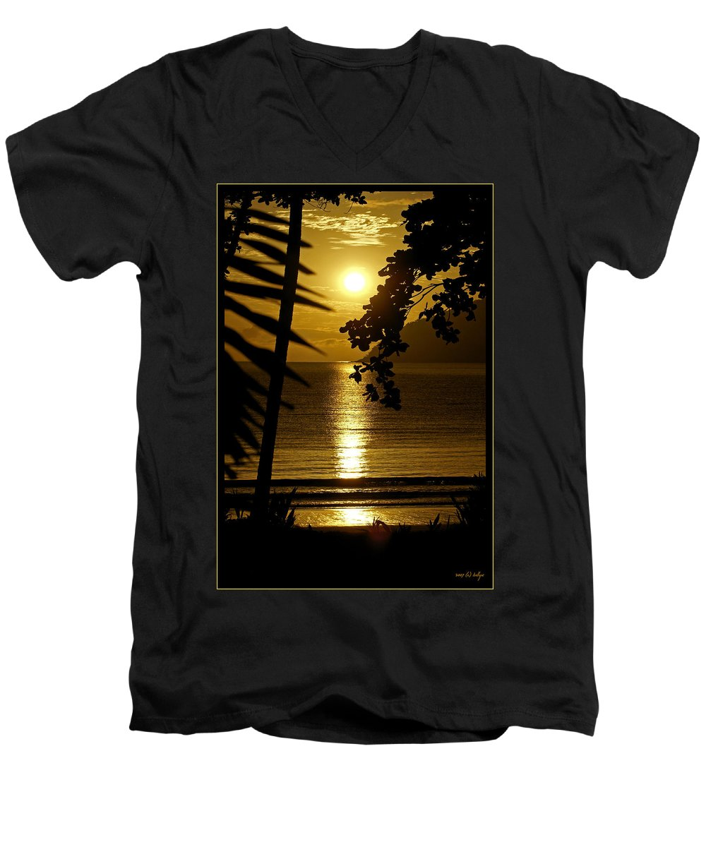 Landscapes Men's V-Neck T-Shirt featuring the photograph Shimmer by Holly Kempe