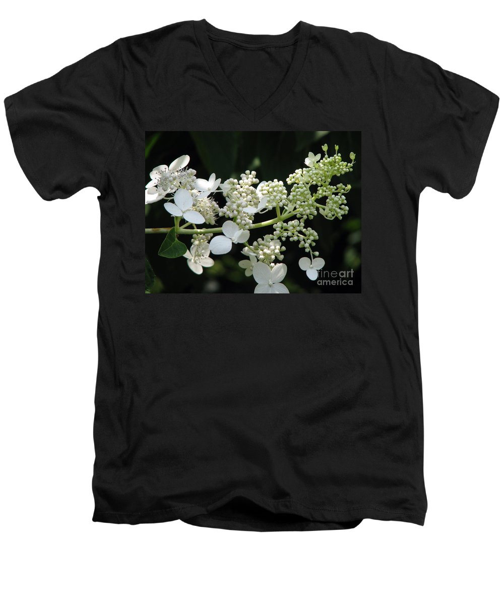 Hydrangea Men's V-Neck T-Shirt featuring the photograph Simply by Amanda Barcon
