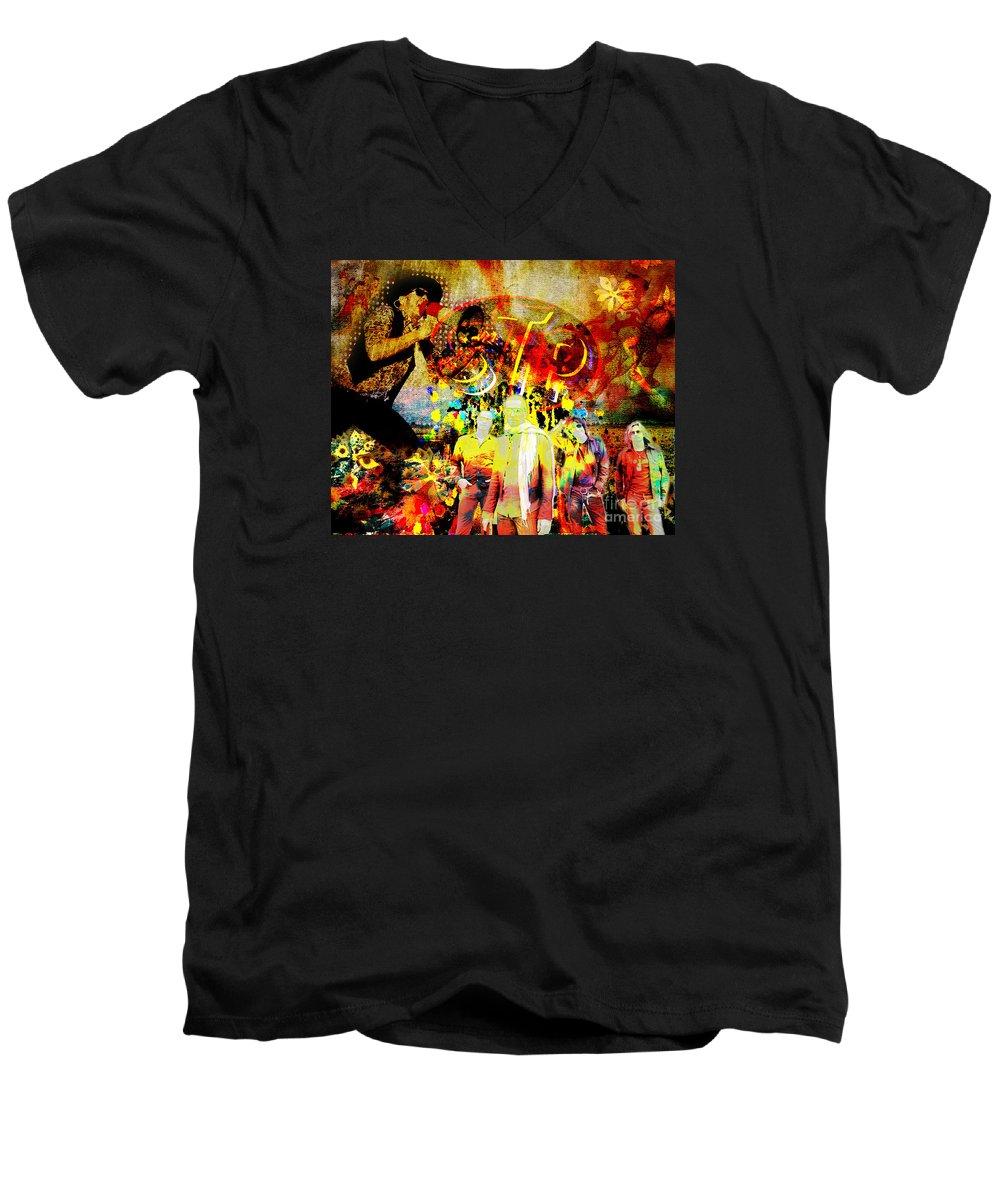 Stone Temple Pilots V-Neck T-Shirts