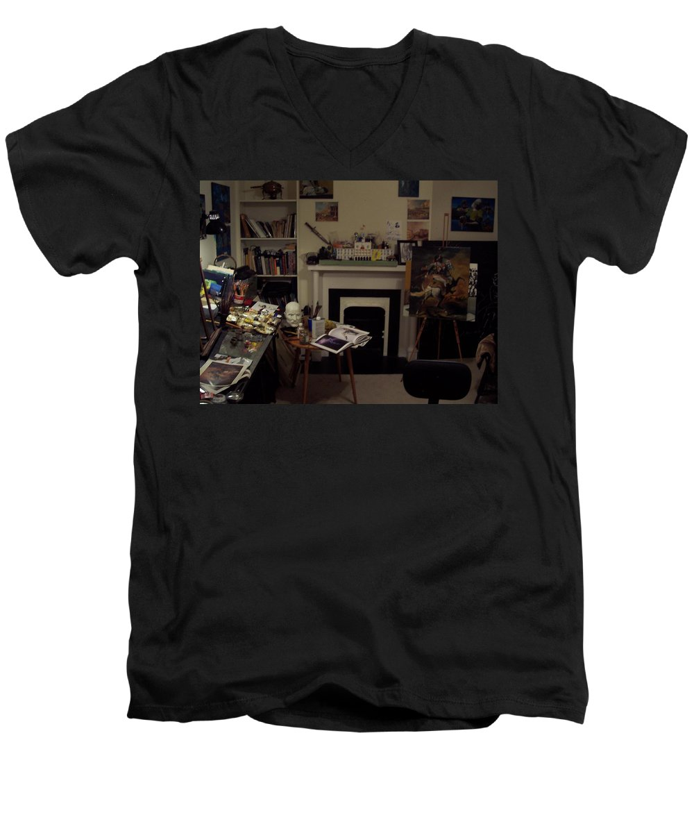 Men's V-Neck T-Shirt featuring the photograph Savannah 9studio by Jude Darrien