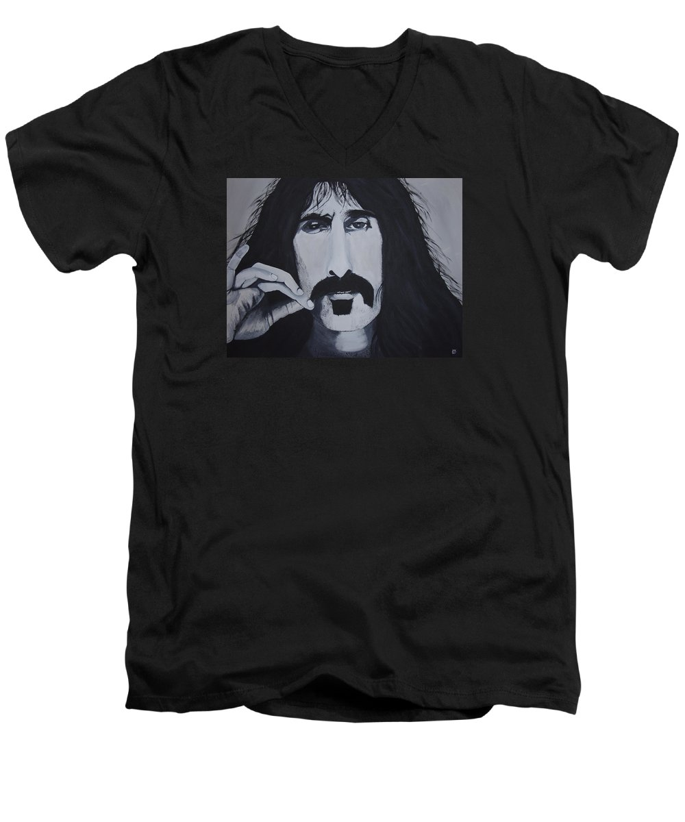 Suave Men's V-Neck T-Shirt featuring the painting Suave 40-93 by Dean Stephens