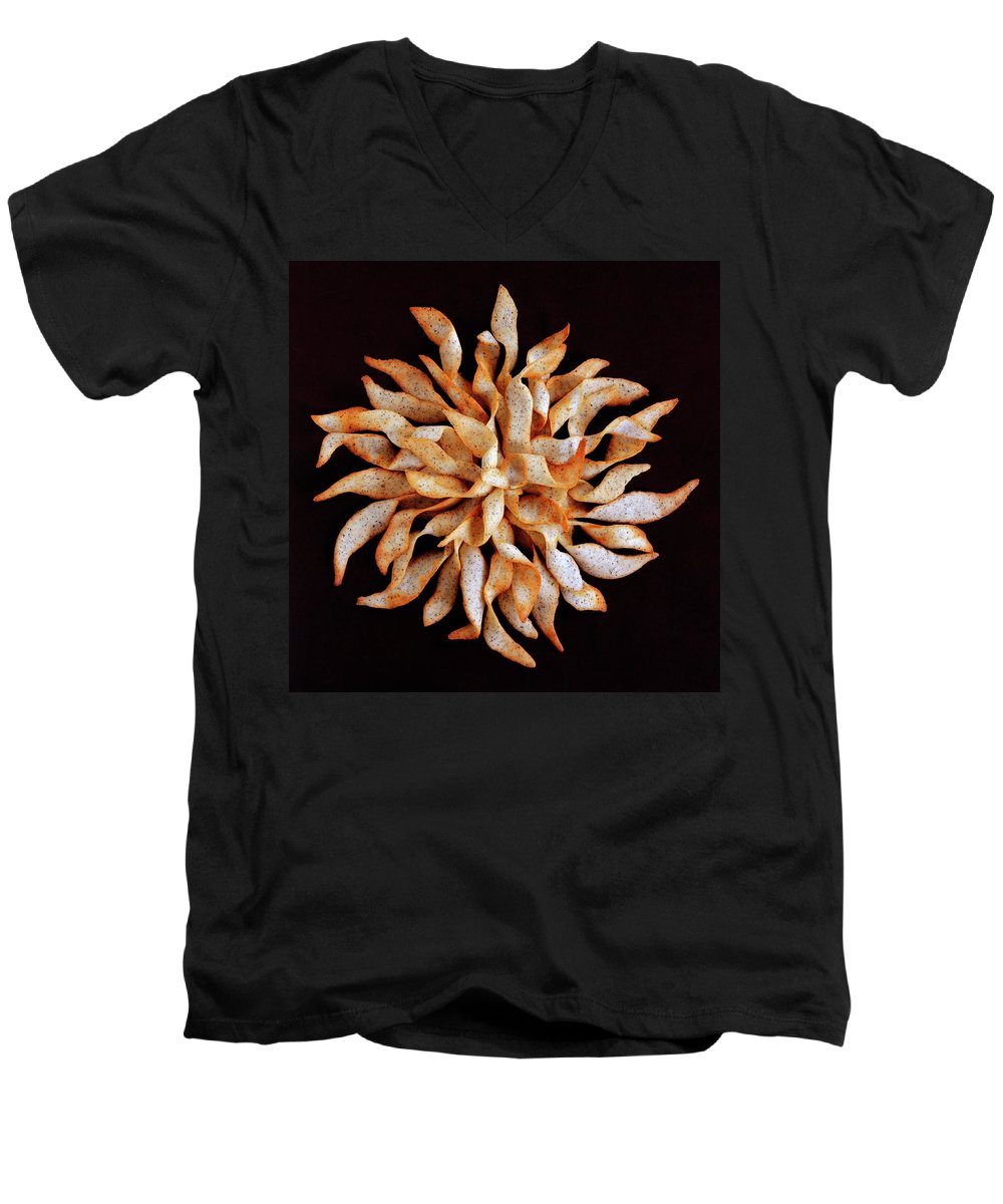 Cooking Men's V-Neck T-Shirt featuring the photograph Tea And Honey Cookies by Romulo Yanes