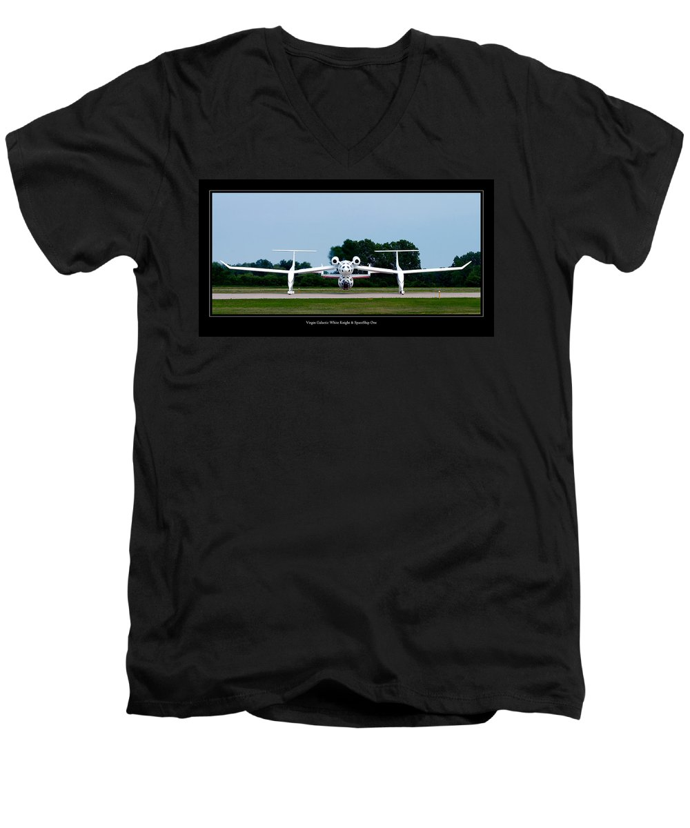 3scape Men's V-Neck T-Shirt featuring the photograph White Knight by Adam Romanowicz