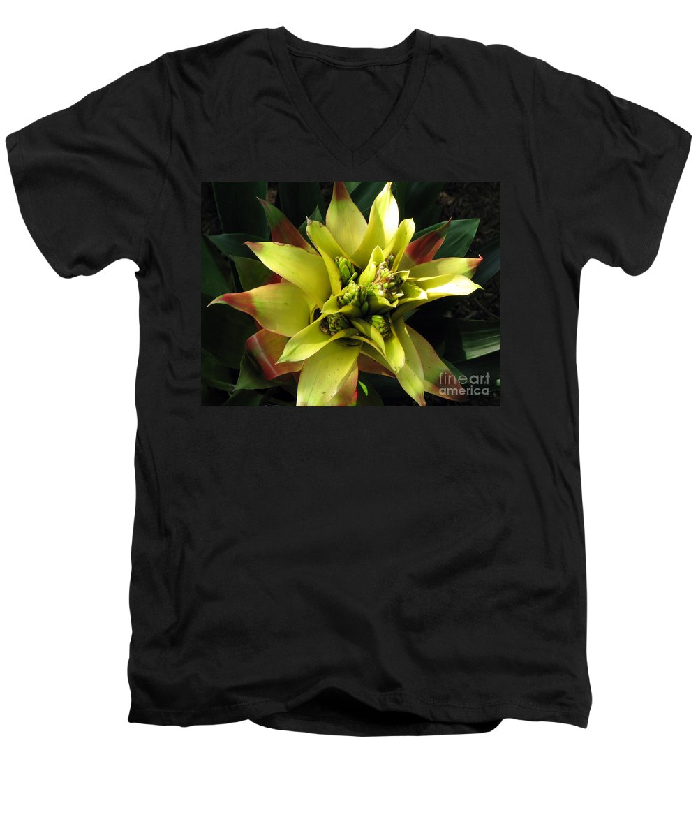 Tropical Men's V-Neck T-Shirt featuring the photograph Tropical by Amanda Barcon