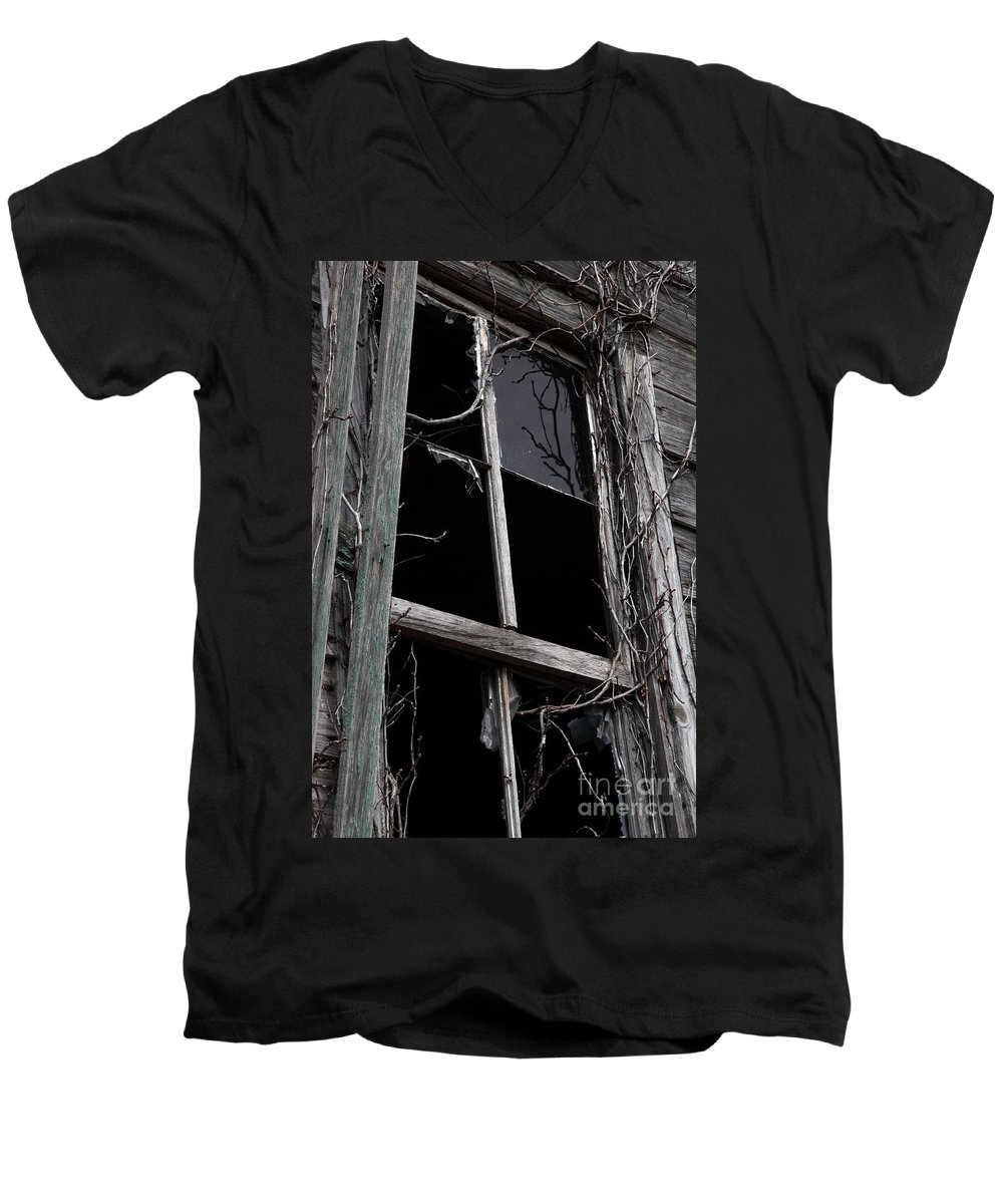 Windows Men's V-Neck T-Shirt featuring the photograph Window by Amanda Barcon
