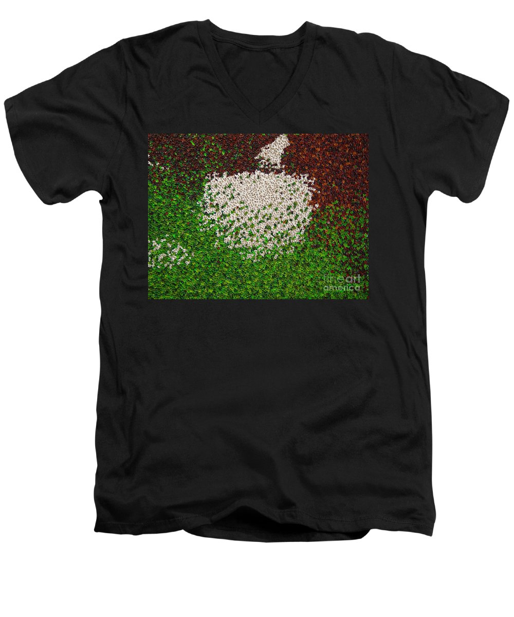 Abstract Men's V-Neck T-Shirt featuring the painting Untitled by Dean Triolo