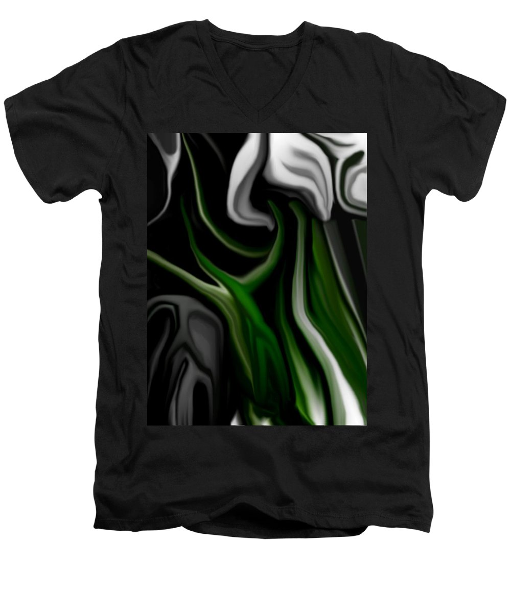 Abstract Men's V-Neck T-Shirt featuring the digital art Abstract309h by David Lane