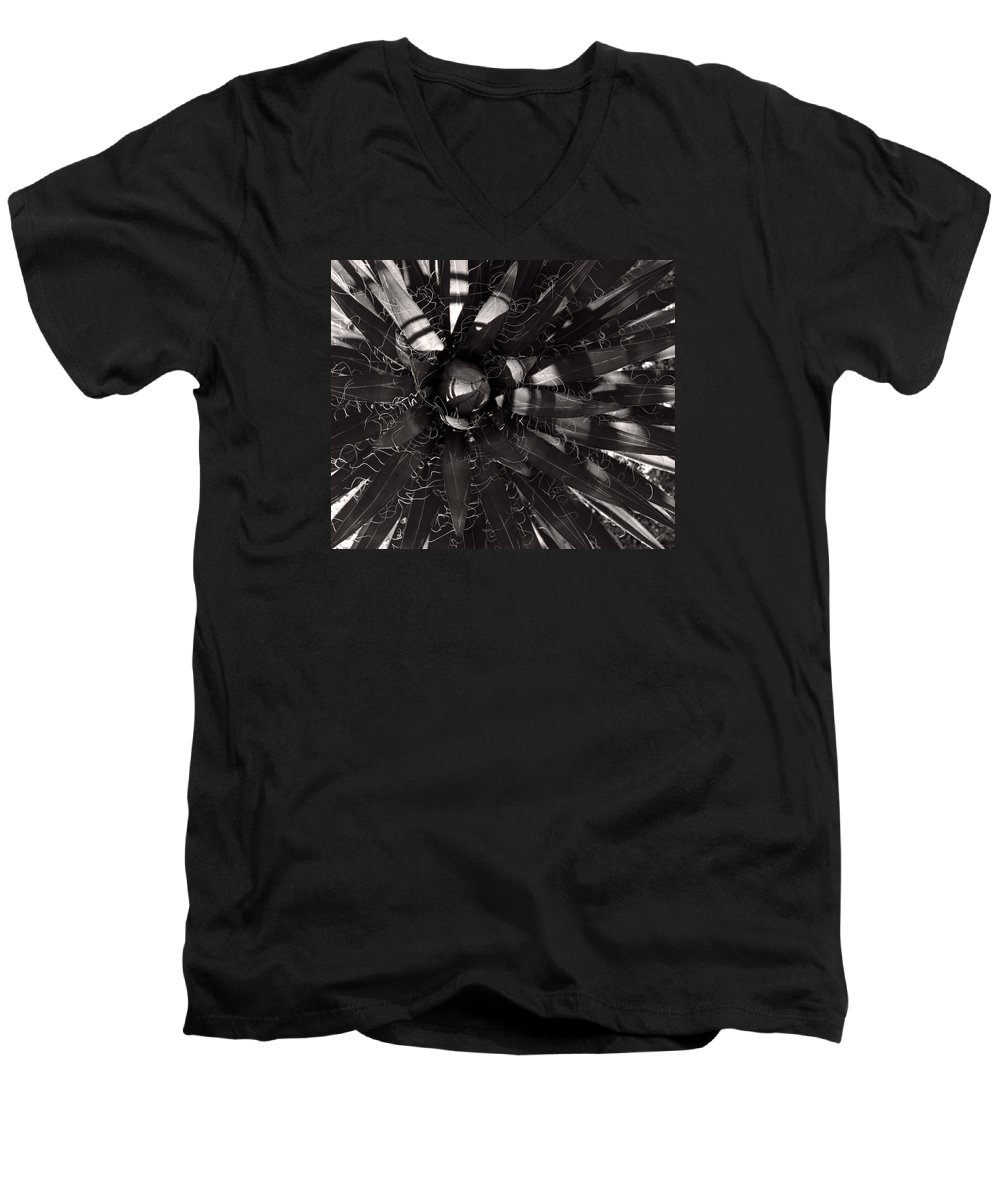 Agave Men's V-Neck T-Shirt featuring the photograph Agave by Steve Bisgrove