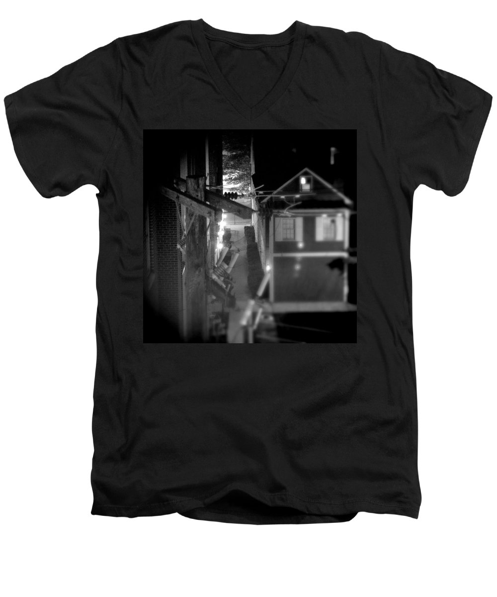 Alley Men's V-Neck T-Shirt featuring the photograph Alley To High by Jean Macaluso