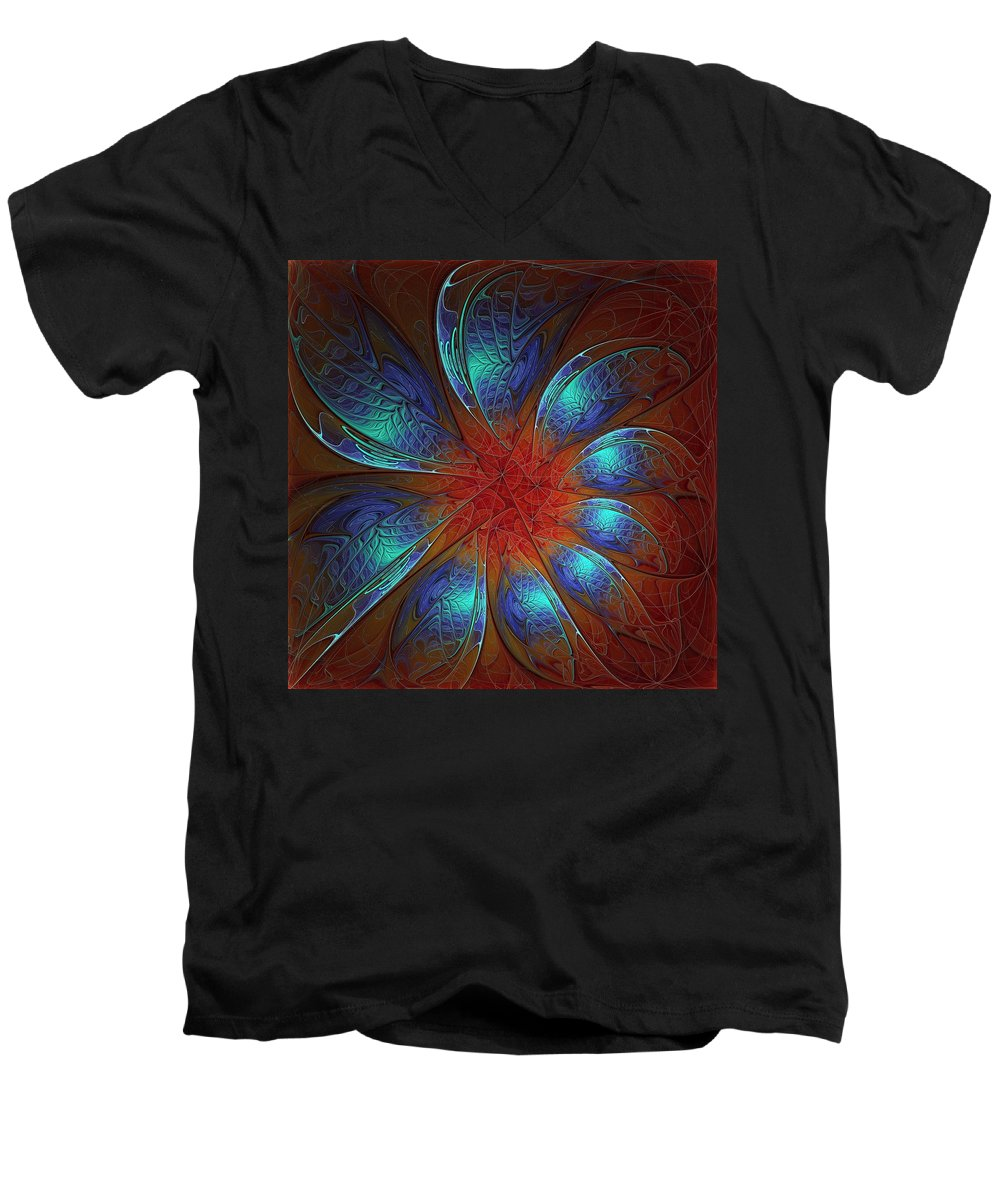 Digital Art Men's V-Neck T-Shirt featuring the digital art Always And Forever by Amanda Moore