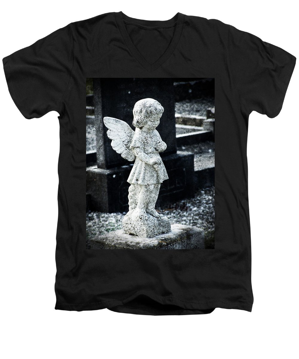 Ireland Men's V-Neck T-Shirt featuring the photograph Angel In Roscommon No 3 by Teresa Mucha