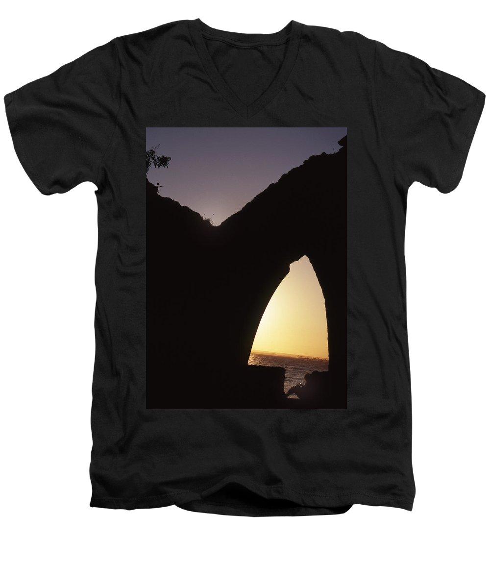 Bahia Men's V-Neck T-Shirt featuring the photograph Bahian Sunset by Patrick Klauss