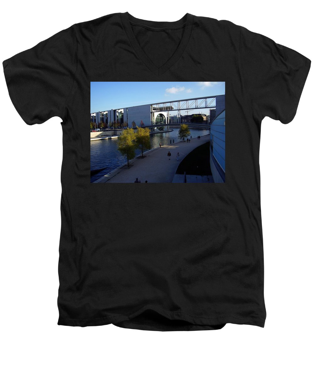Paul-loebe Men's V-Neck T-Shirt featuring the photograph Berlin II by Flavia Westerwelle