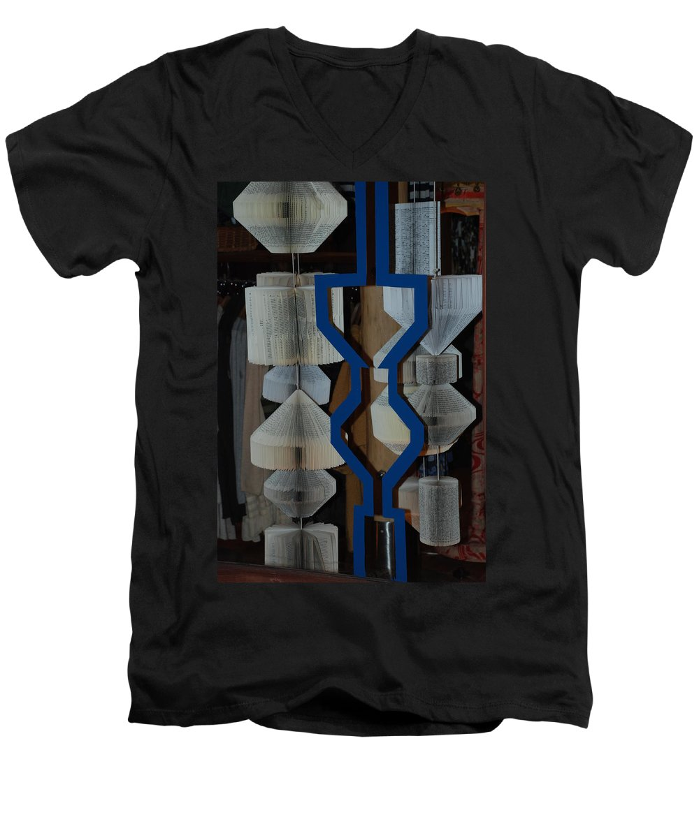 Window Men's V-Neck T-Shirt featuring the photograph Blue And White by Rob Hans